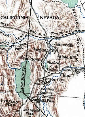 Nevada 1860s map