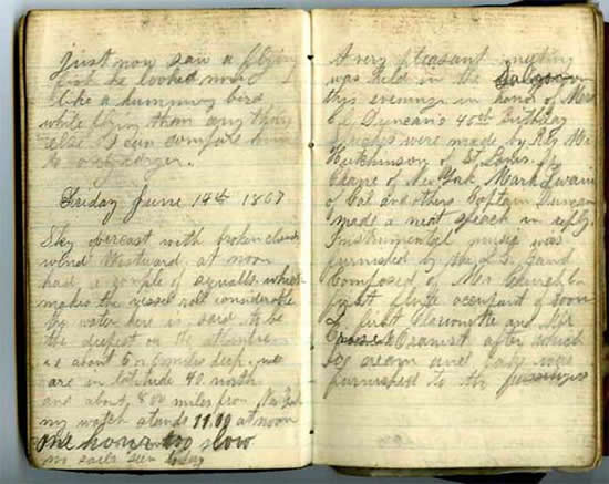 June 14, 1867 diary entry