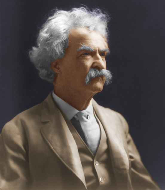 Twain photo by Bradley colorized by RKR