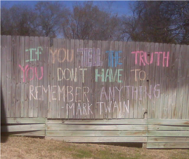 Truth fence