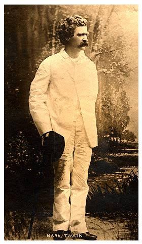 Young Twain in white suit