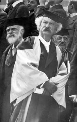 Twain in Oxford gown