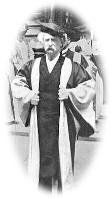 Twain in his Oxford robes