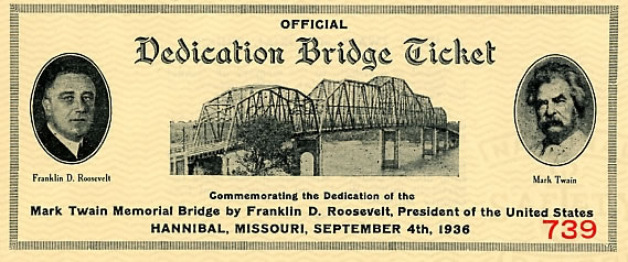 dedication bridge ticket